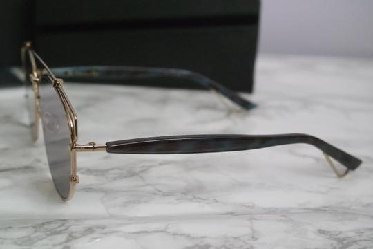 Dior NEW Dior Technologic Sunglasses in Gold Purple Mirrored Image 3