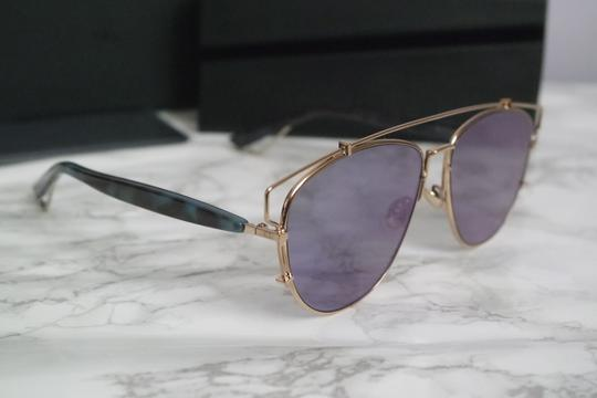 Dior NEW Dior Technologic Sunglasses in Gold Purple Mirrored Image 4