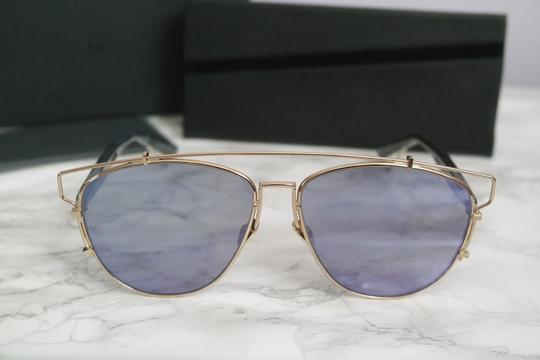 Dior NEW Dior Technologic Sunglasses in Gold Purple Mirrored Image 5