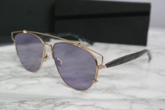 Dior NEW Dior Technologic Sunglasses in Gold Purple Mirrored Image 6