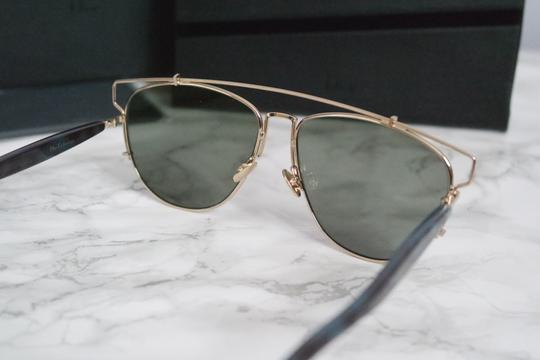 Dior NEW Dior Technologic Sunglasses in Gold Purple Mirrored Image 7