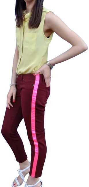 Preload https://img-static.tradesy.com/item/23824267/hudson-burgundy-with-hot-pink-detail-loulou-skinny-jeans-size-30-6-m-0-3-650-650.jpg