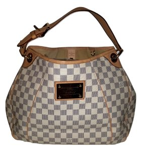 Louis Vuitton Tote Checkered And White Shoulder Bag