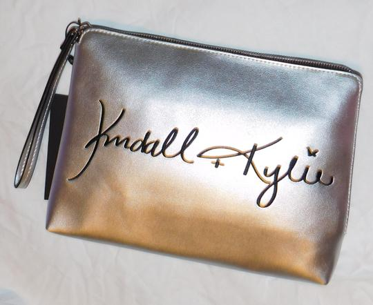 Kendall + Kylie Silver Clutch Image 1