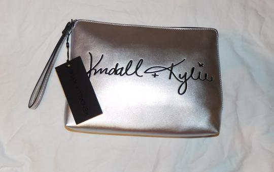 Kendall + Kylie Silver Clutch Image 2