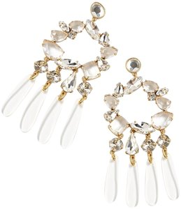 J.Crew j.crew crystal and resin chandelier earring