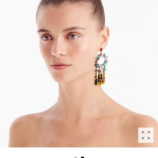 J.Crew j.crew crystal and resin chandelier earring Image 1