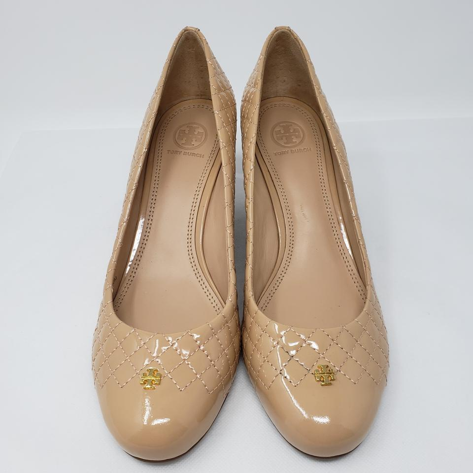 3c3fef1f703b Tory Burch Gold Hardware Reva Round Toe Sophie Kent Beige Pumps Image 11.  123456789101112
