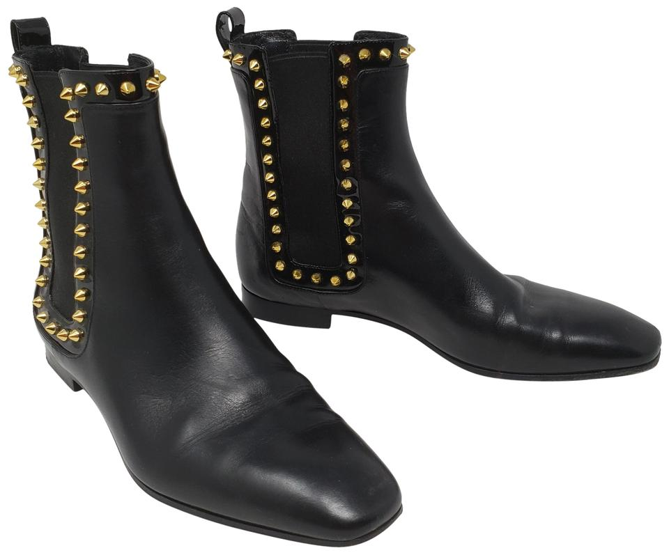 newest f15b4 7272a Christian Louboutin Black Leather Marianne Red Sole Chelsea Boots/Booties  Size EU 36.5 (Approx. US 6.5) Regular (M, B) 57% off retail