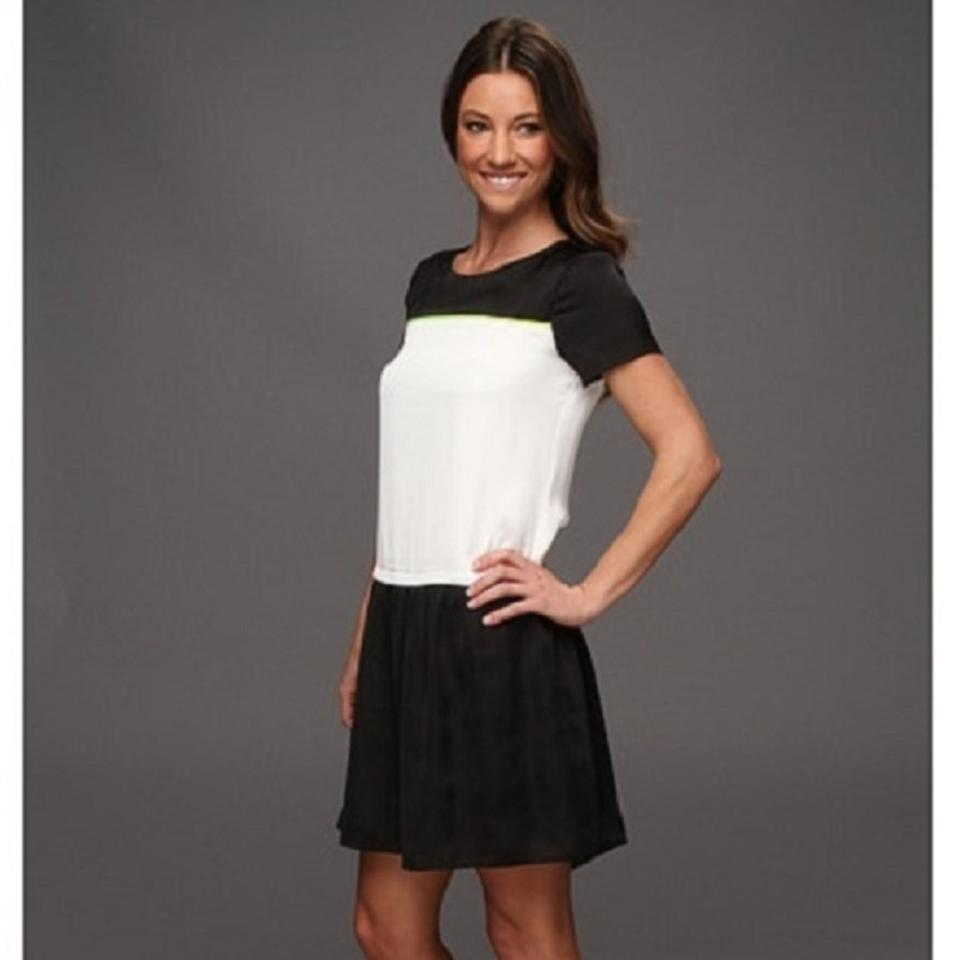 White Camuto Black Night White Dress Green Out Black Color Stripe Thin W Chic Vince dX4qC5ww