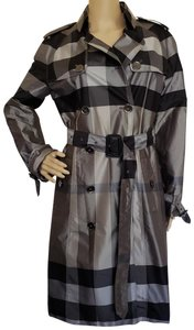 Burberry Nova Check Belted Hardware House Check Metallic Trench Coat