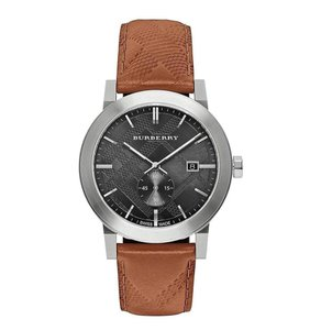 Burberry Men's Swiss Chronograph The City Brown Leather Burberry Watch BU9905