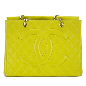 Chanel Yellow Gst Grand Shopping Tote in Green