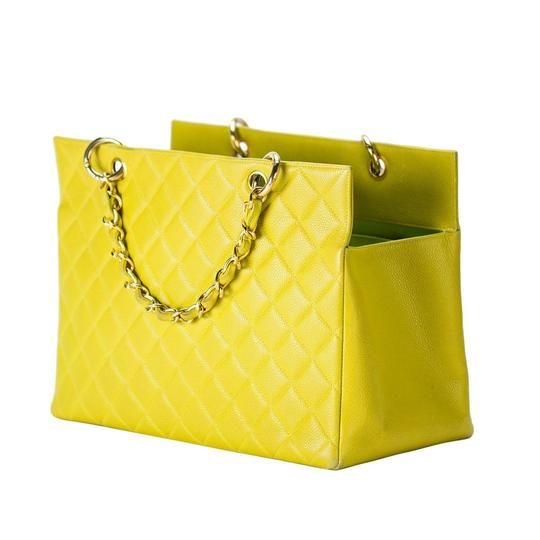 Chanel Yellow Gst Grand Shopping Tote in Green Image 1