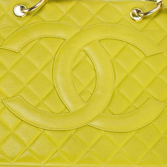 Chanel Yellow Gst Grand Shopping Tote in Green Image 3
