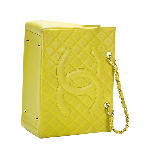 Chanel Yellow Gst Grand Shopping Tote in Green Image 4