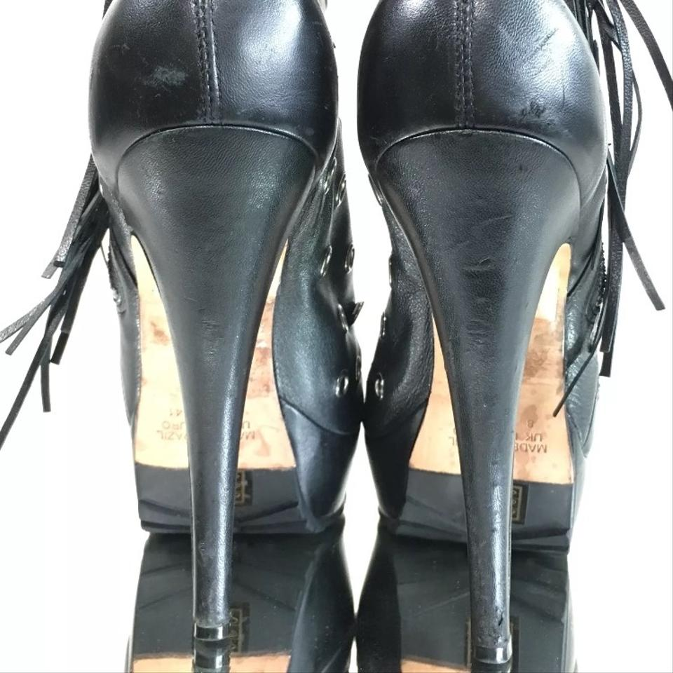 Black Eyelet Leather Boots Stiletto Topshop Christopher For Heels Booties Kane Uxq16at
