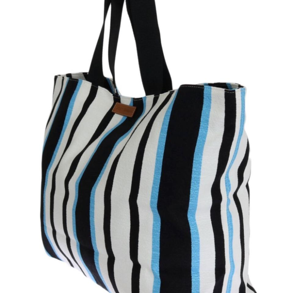 Tote Black Dolce Cotton Blue amp;Gabbana Pa Elastane 94 White Striped 5 1 wqPA7qI1Ox