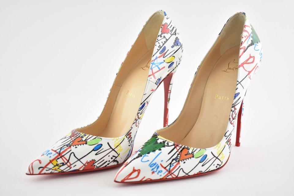 2d694c5c8dd Christian Louboutin White So Kate 120 Loubitag Red Patent Leather Classic  Stiletto Heel Pumps Size EU 36.5 (Approx. US 6.5) Regular (M, B)