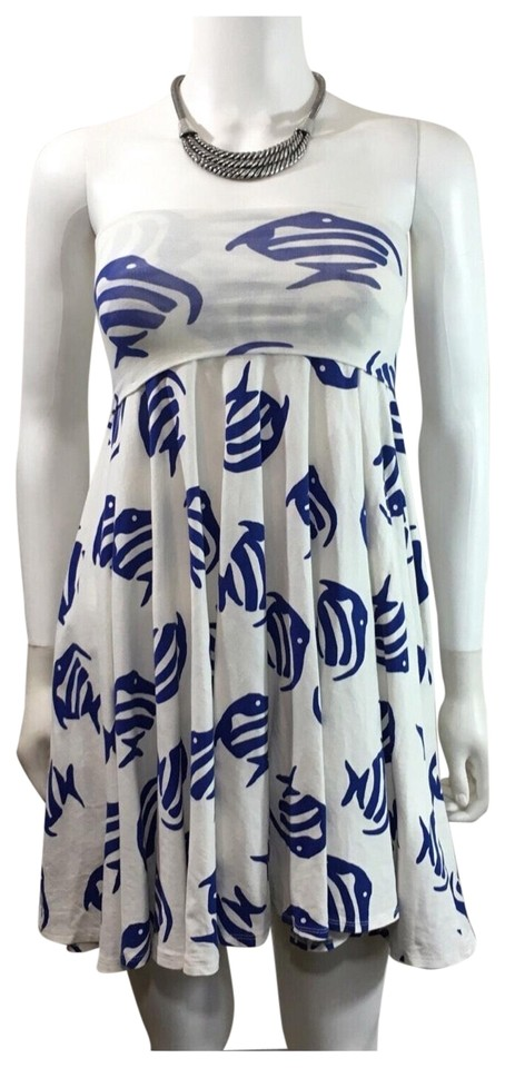 3 Convertible Dress 1 Sanur in Printed Crew J Strapless Fish Casual YSCgfUq