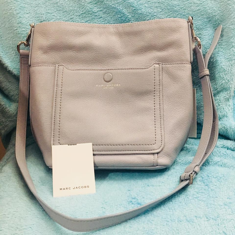 69f1dd4f89 Marc Jacobs Empire City Bucket Frost Leather Cross Body Bag - Tradesy