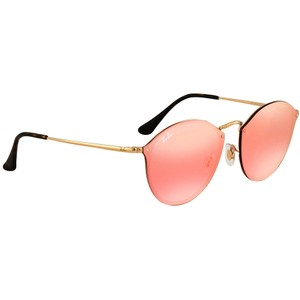 Ray-Ban Ray Ban Blaze Pink Mirror Round Sunglasses RB3574N 001/E4 59