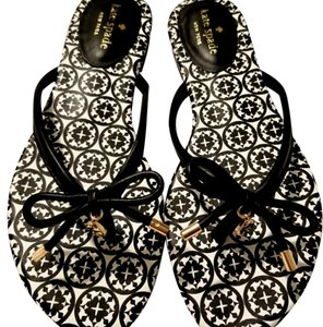 Kate Spade Leather Charm Comfortable Chic Black Sandals