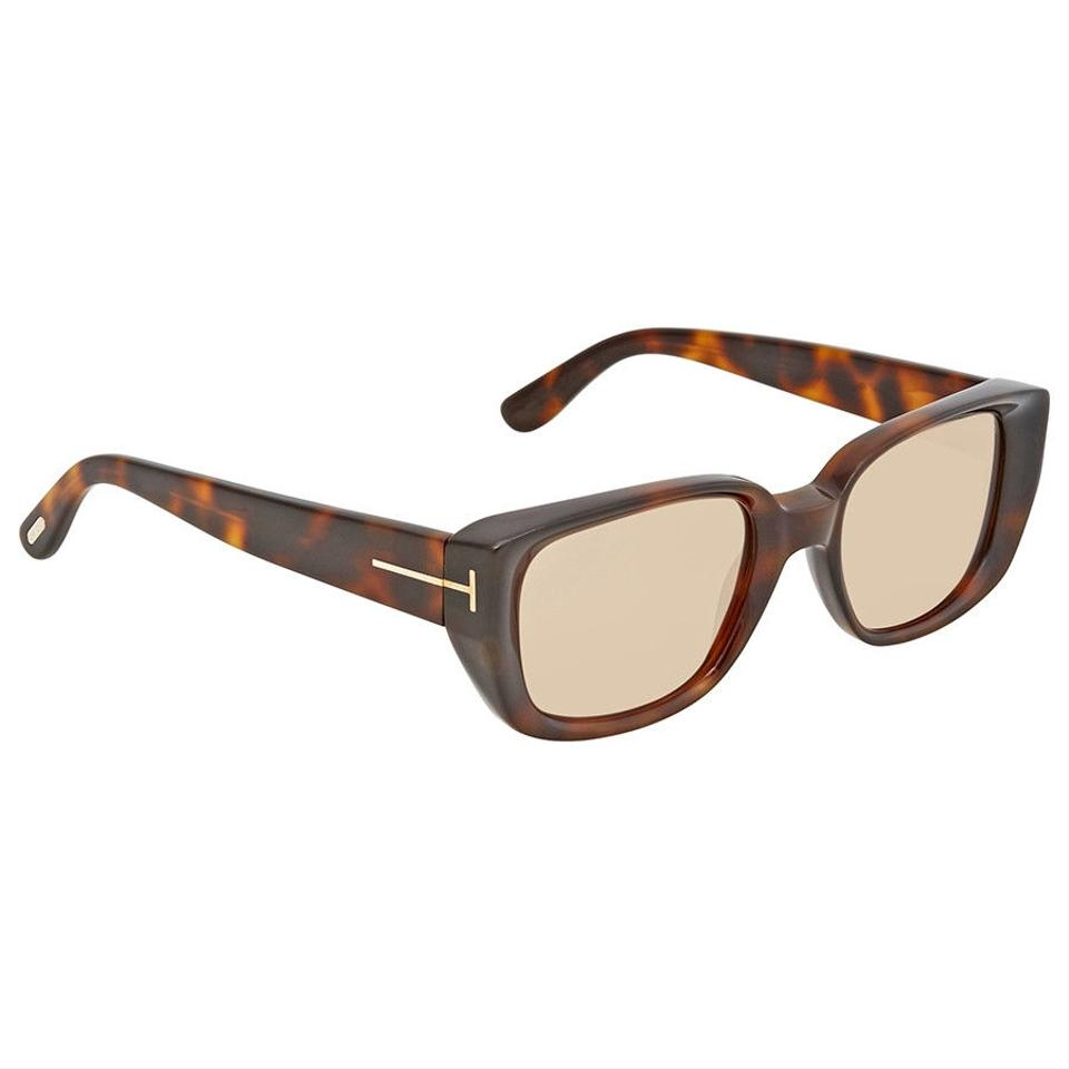 6b9f05a98f Tom Ford Tom Ford Brown Rectangular Sunglasses FT0492 52E ...