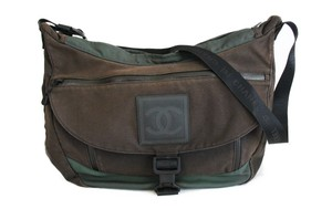 9bd535ebd1ca Chanel 2.55 Vintage Cc Earrings Brown and army green Messenger Bag