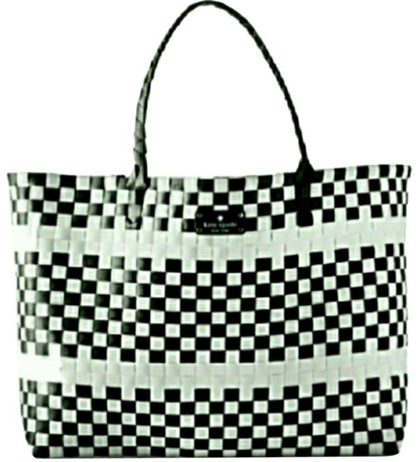 Item - Limited Edition Black/White Woven Beach Bag