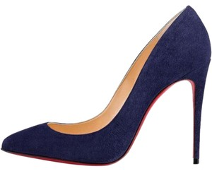 Christian Louboutin Stiletto Pigalle Follies Suede China Blue Pumps