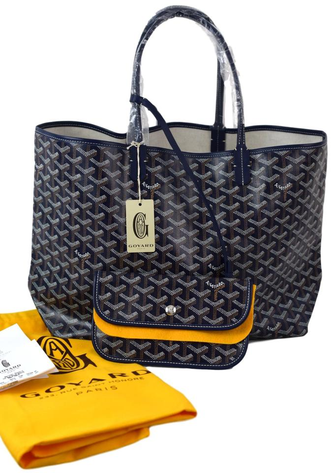 Coated Tote Handpainted Blue Saint Pm Louis Canvas Goyard qwBx0q