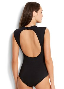 SeaFolly Seafolly Castaway Active Cap Sleeve One Piece Swimsuit