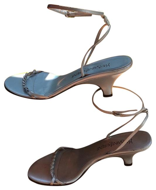 Item - Blue Metallic Ankle Strappy Sandals Size US 8 Regular (M, B)