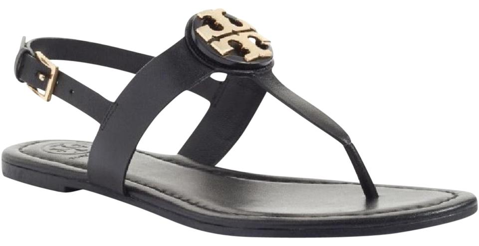 1153cd68a84 Tory Burch Black Bryce Flat Thong Sandals. Size  US 9 Regular (M ...