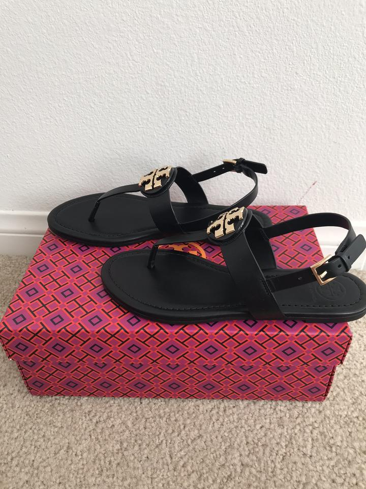 a0b3fe410ef Tory Burch Black Bryce Flat Thong Sandals Size US 9 Regular (M