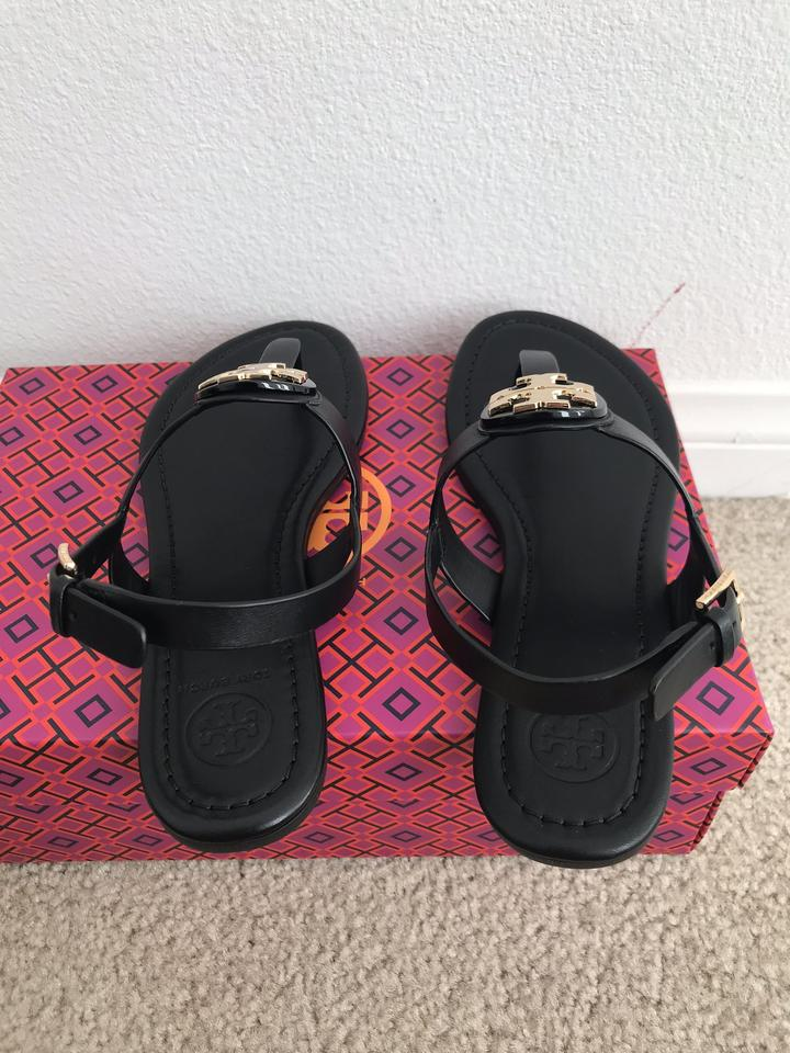 b669ae78854 Tory Burch Black Bryce Flat Thong Sandals Size US 9 Regular (M