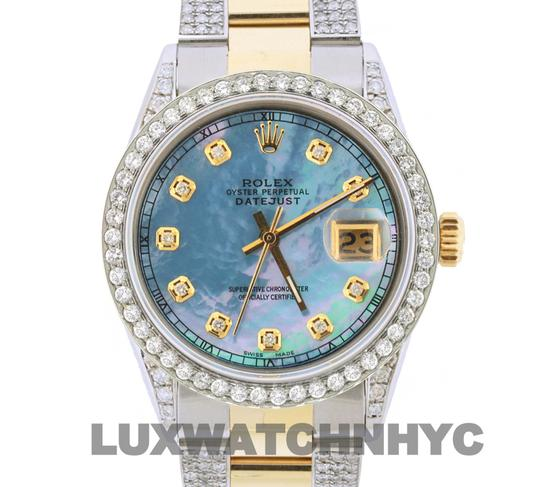 Rolex Free Shipping 4.2ct 36mm Datejust Gold Ss with Box and Appraisal Watch