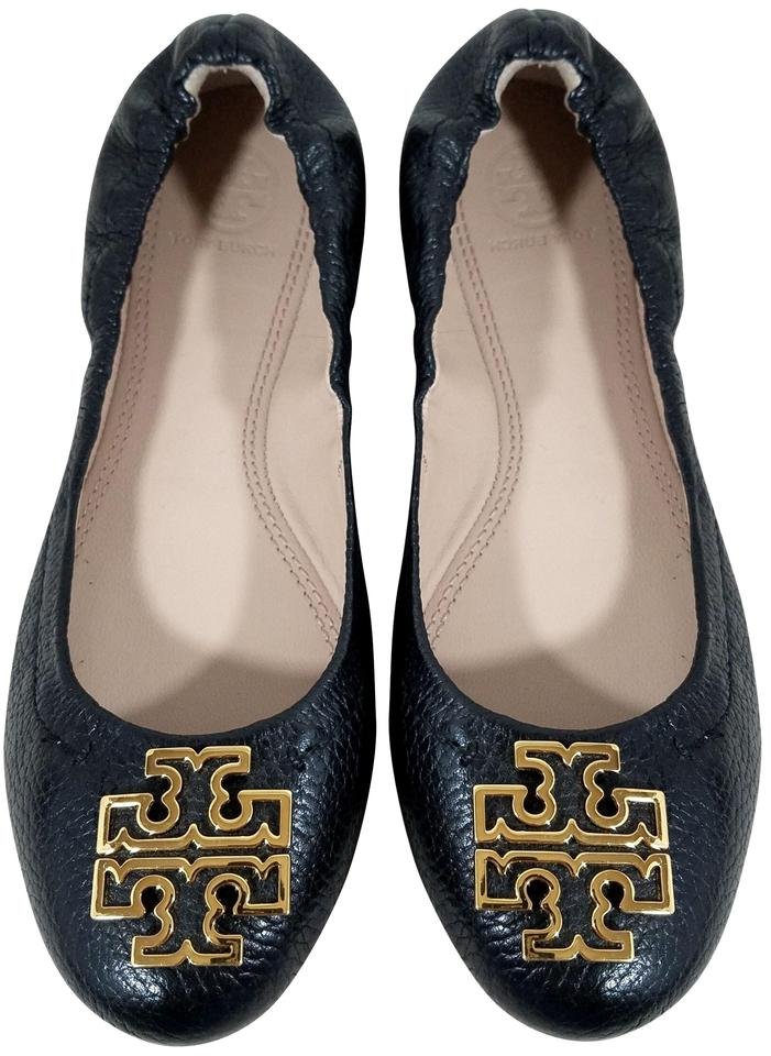 Melinda Flats Burch Leather Tory Black qfgwtfO