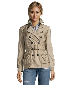 Burberry Brit Packable Light Weight Belted Trench Coat