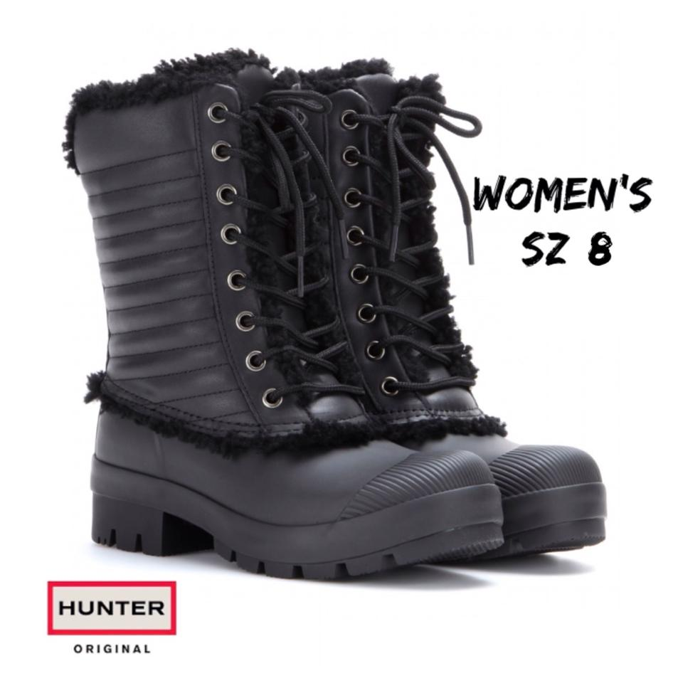 Hunter Pac Black Booties Patent Boots gwZx6gCrq
