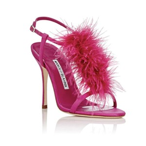 Manolo Blahnik Fuchsia 300 Formal
