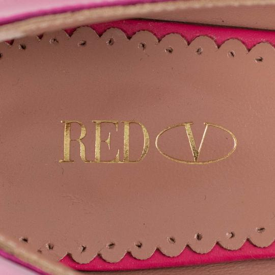 908a25c102b0 RED Valentino Pink Metallic with Leather Bow Flats Size US 7 Regular ...