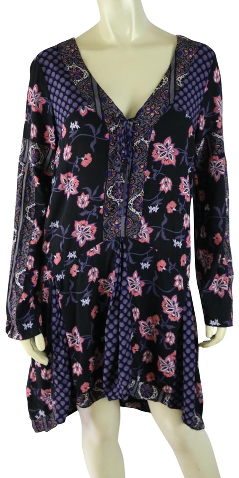 Hem Dot Lo Floral Casual Pullover Black Oneill Dress Polka Sui Anna Purple Hi Boho Salmon H80PPx