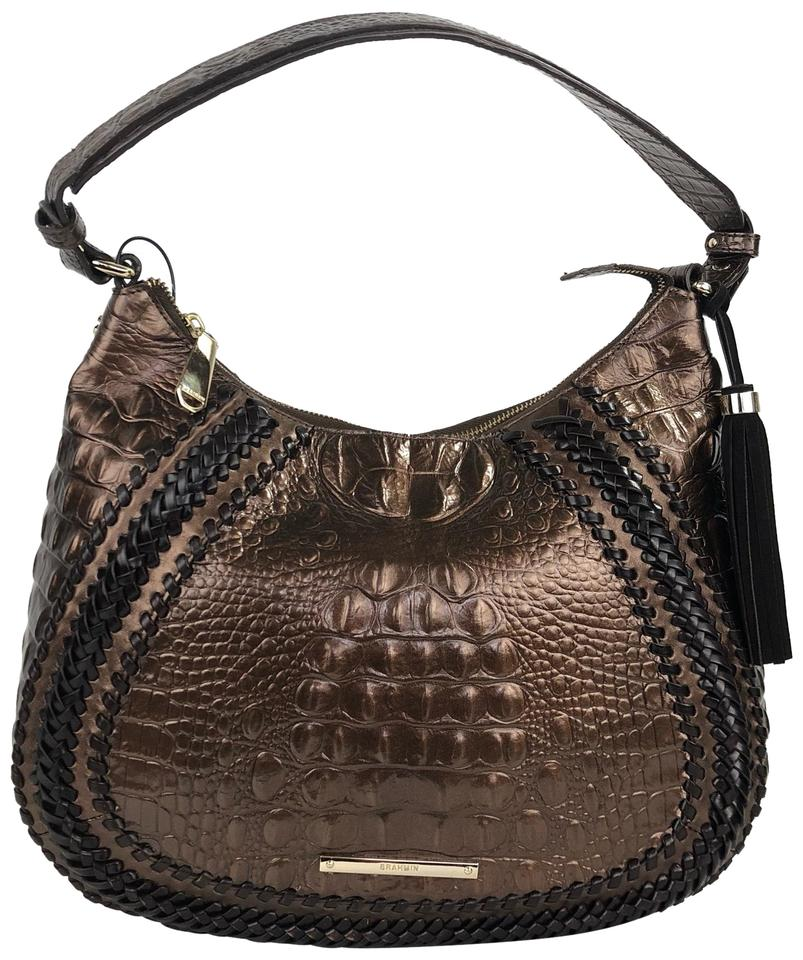 Leather Bronze Tassel Suede Hobo Bag Shoulder Brahmin PwzRqSU