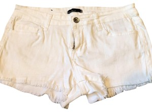 Klique B Cut Off Shorts white
