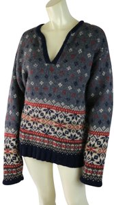 Abercrombie & Fitch Nodic Fair Isle Wool Thick Sweater
