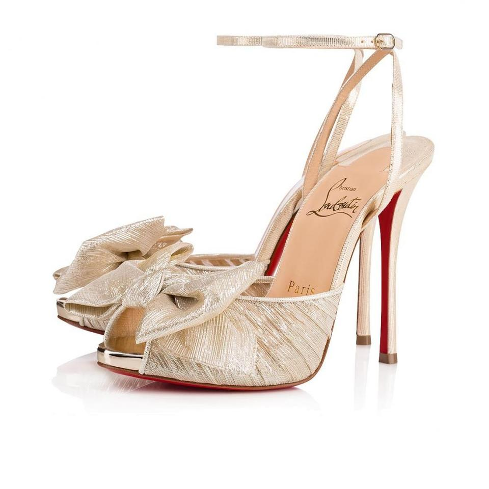 e0346ffcd71 Christian Louboutin Stiletto Pigalle Classic Artydiva Ankle Strap gold  Pumps Image 0 ...