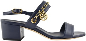 Chanel Flat Chain Strappy Gladiator blue Sandals