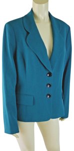 Kasper Button Down New Without Tags Lined Aqua Blazer